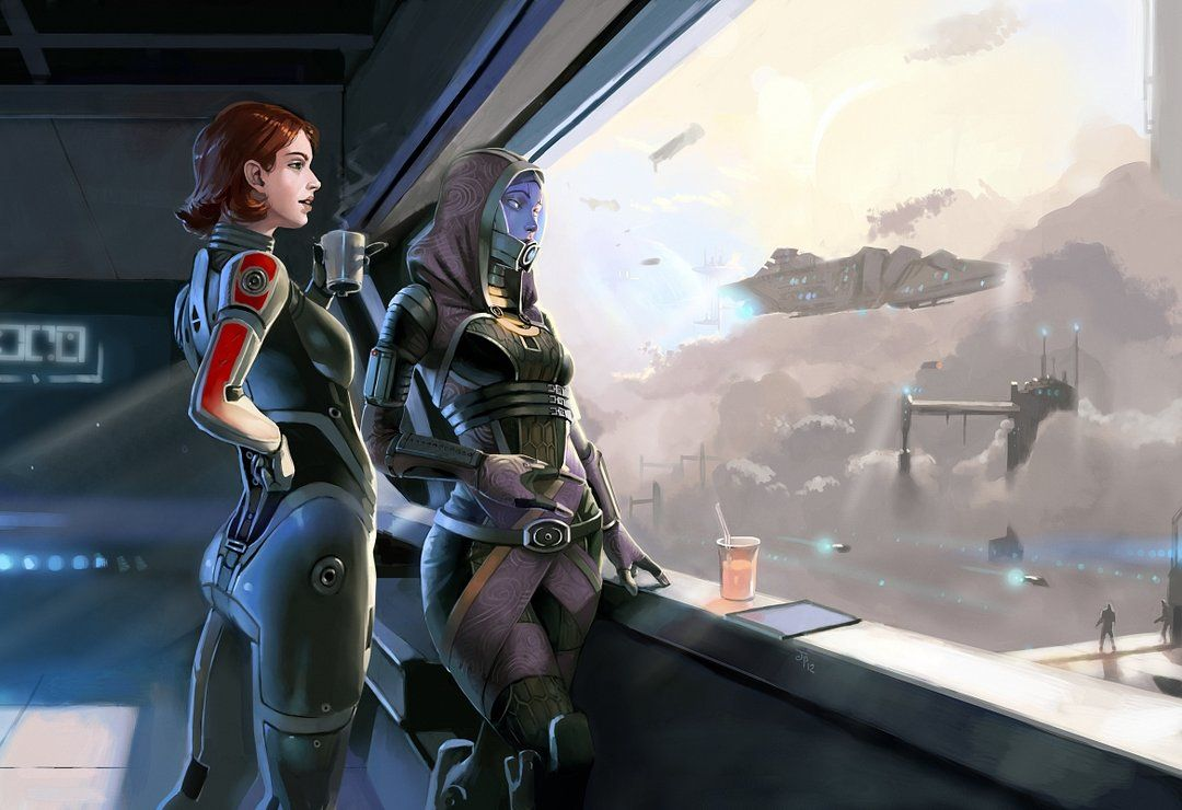 Female Shepard And Tali Fanart With Images Mass Effect Mass