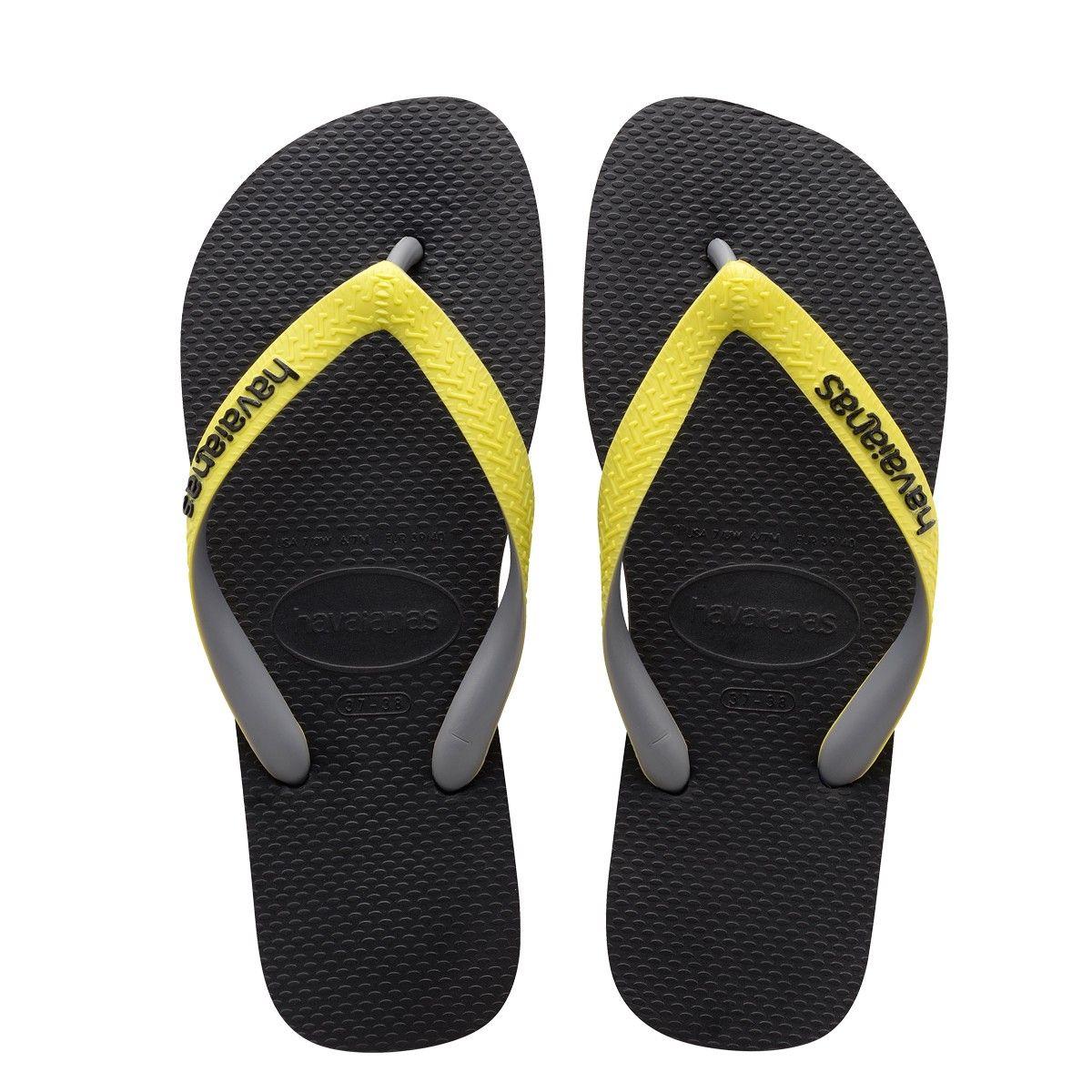 f19cb75d325fc HAVAIANAS TOP MIX SANDAL BLACK NEON YELLOW.  havaianas  shoes ...