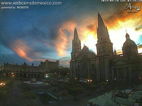 Catedral de la cuidad de Guadalajara hermosa toma