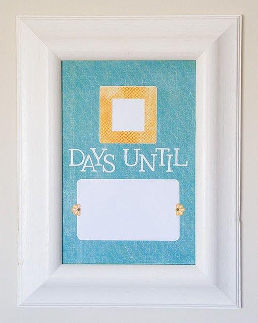 Dry Erase Countdown Calendar Kids Calendar Countdown Calendar