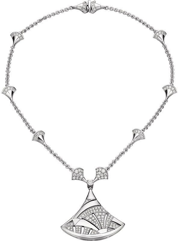 ec0bf7e5f5 Bvlgari Divas' Dream 18kt White-Gold and Diamond Necklace | Gorgeous ...