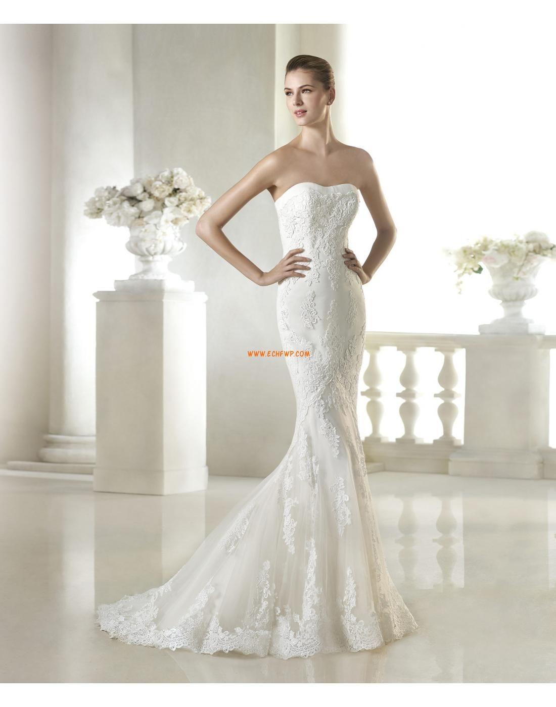 Tyll elegant u luksuriøs naturlig brudekjoler brudekjoler