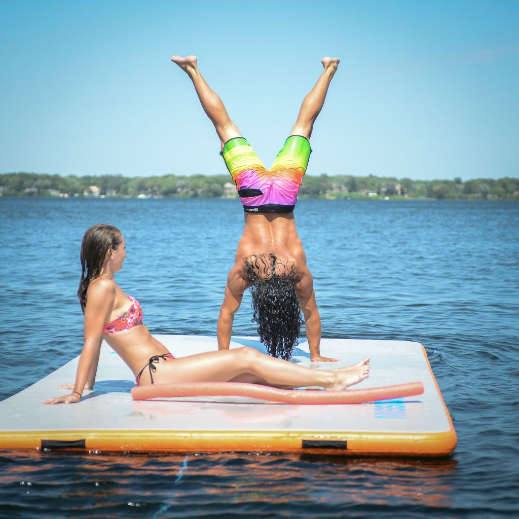Upgrade Your Summer With The New Inflatable Reef Mat By Mission Inflatable Reef Floating In Water