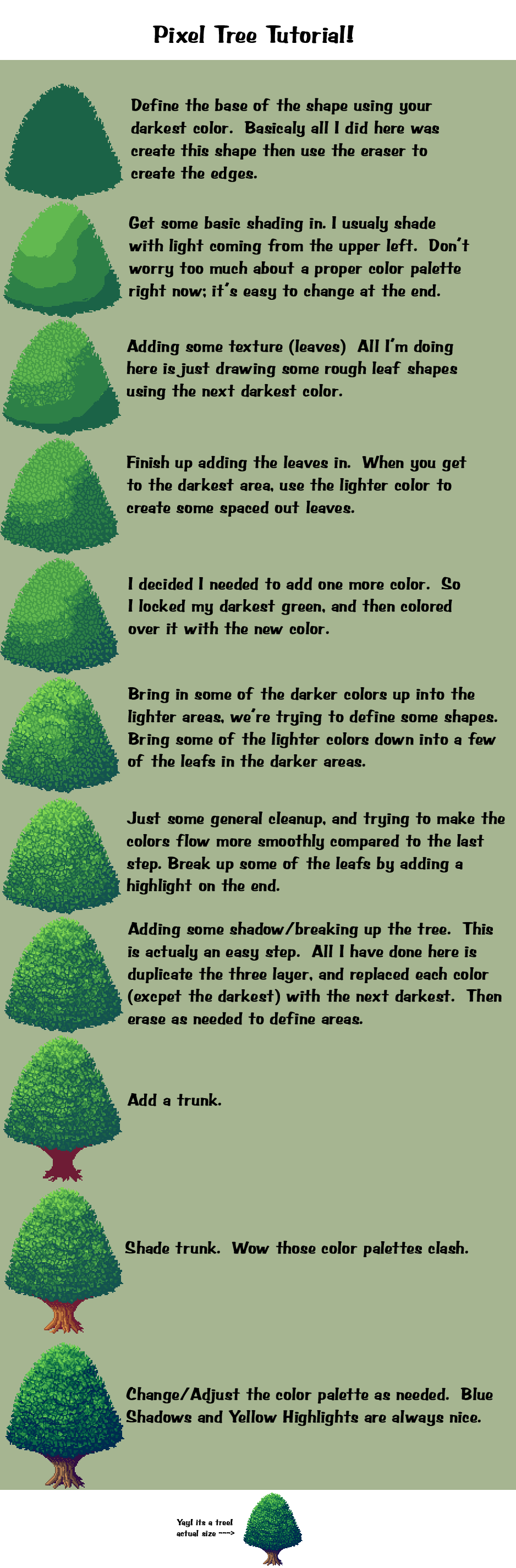 Pixel Tree Tutorial by D-e-n-a on DeviantArt | Pixel Art | Pinterest ...