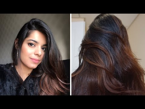 4 No Bleach Diy Ombre Balayage On Jet Black Hair How I Dyed My Black Hair To Brown At Home Youtube In 2020 Jet Black Hair Black Hair Balayage Hair