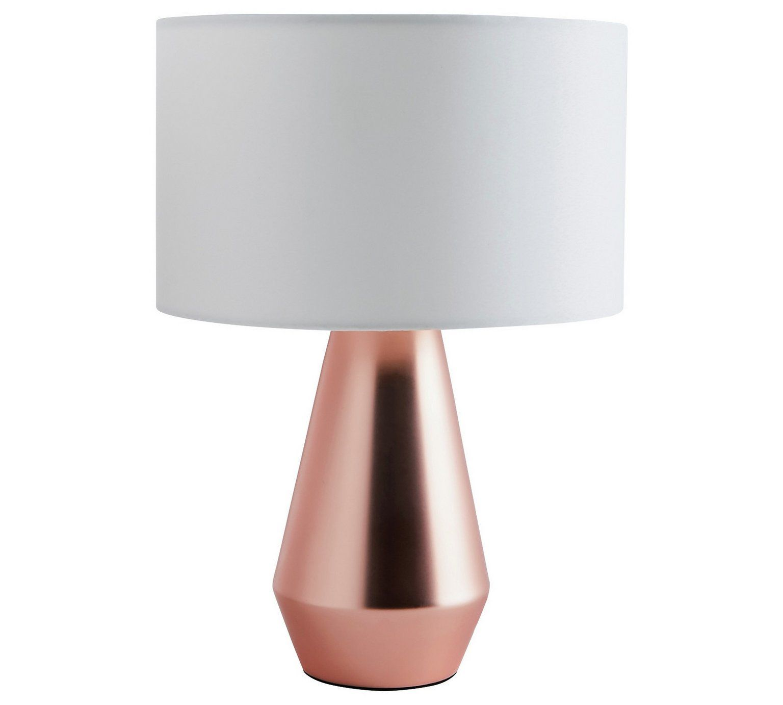 Buy Habitat Pair Of Maya Table Touch Lamps   Copper U0026 Cream At Argos.co