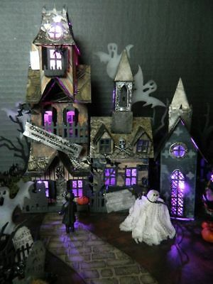 Sizzix Tim Holtz Halloween kit de corte Morrer Vila Estoque de índice   eBay