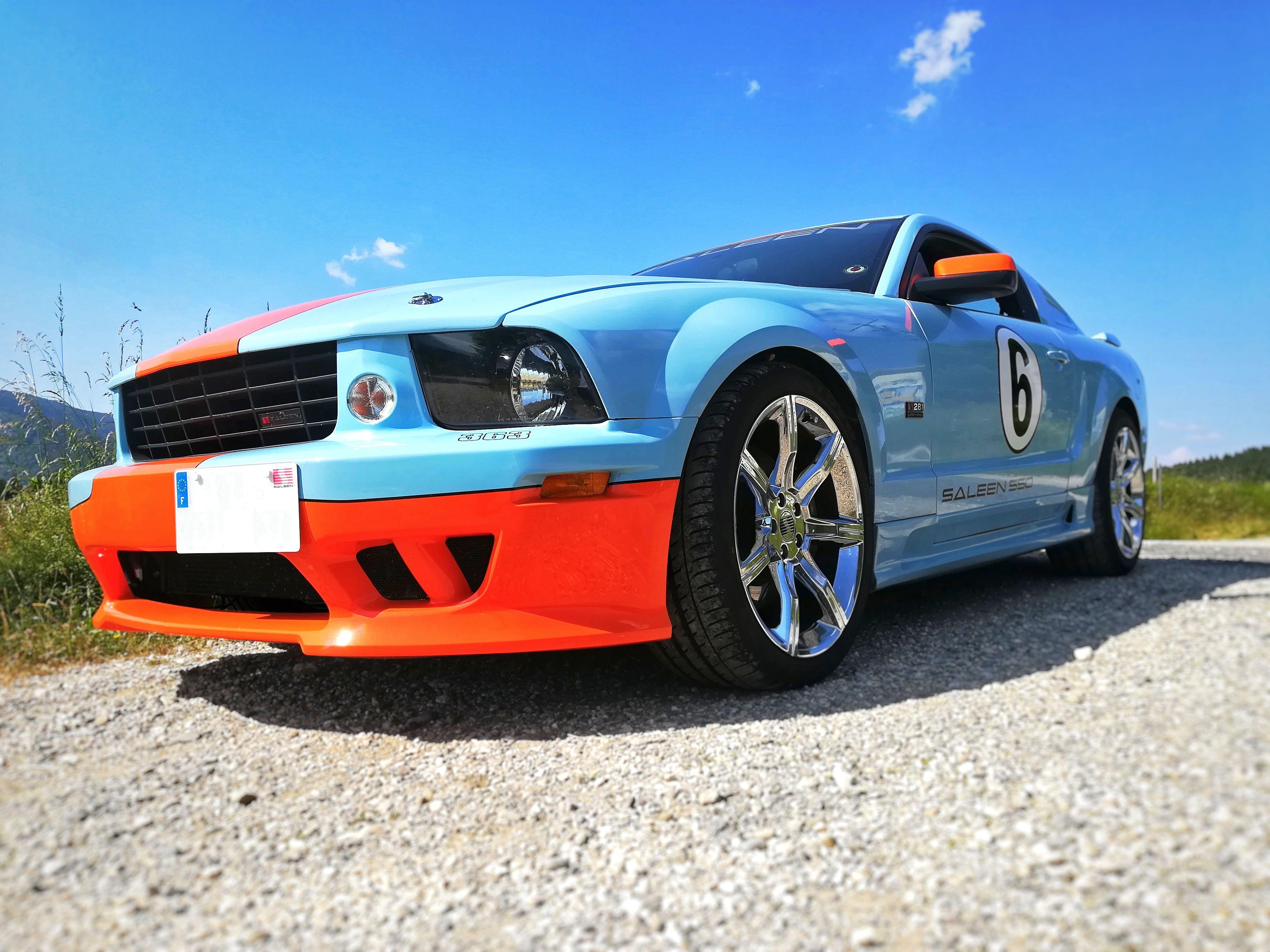 Mustang Saleen Sc 281 2006 Gulf Livery Saleen Mustang Mustang Sports Car