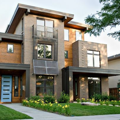 Contemporary exterior duplexes design ideas pictures for Modern house exterior remodel