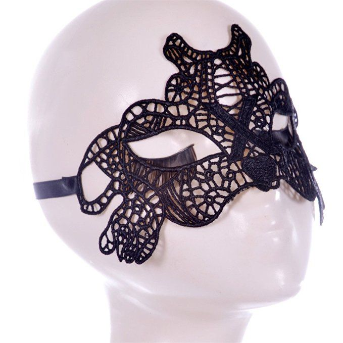 Amazon.com: Bestwoohome Sexy Mysterious Hollow Lace Eye Mask Veil for Halloween…