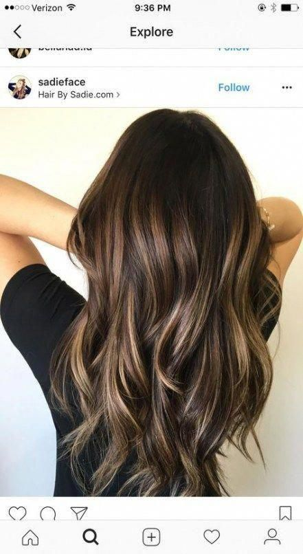 Hair brunette light balayage 70+ Ideas for 2019 #hair #haircolorideasforbrunette…