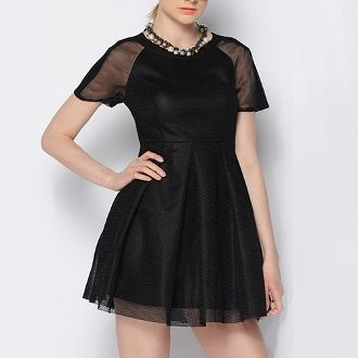 Womens Short Mesh Dress