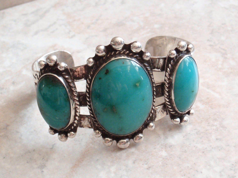 Tiny chrysocolla and sterling silver beads bracelet.