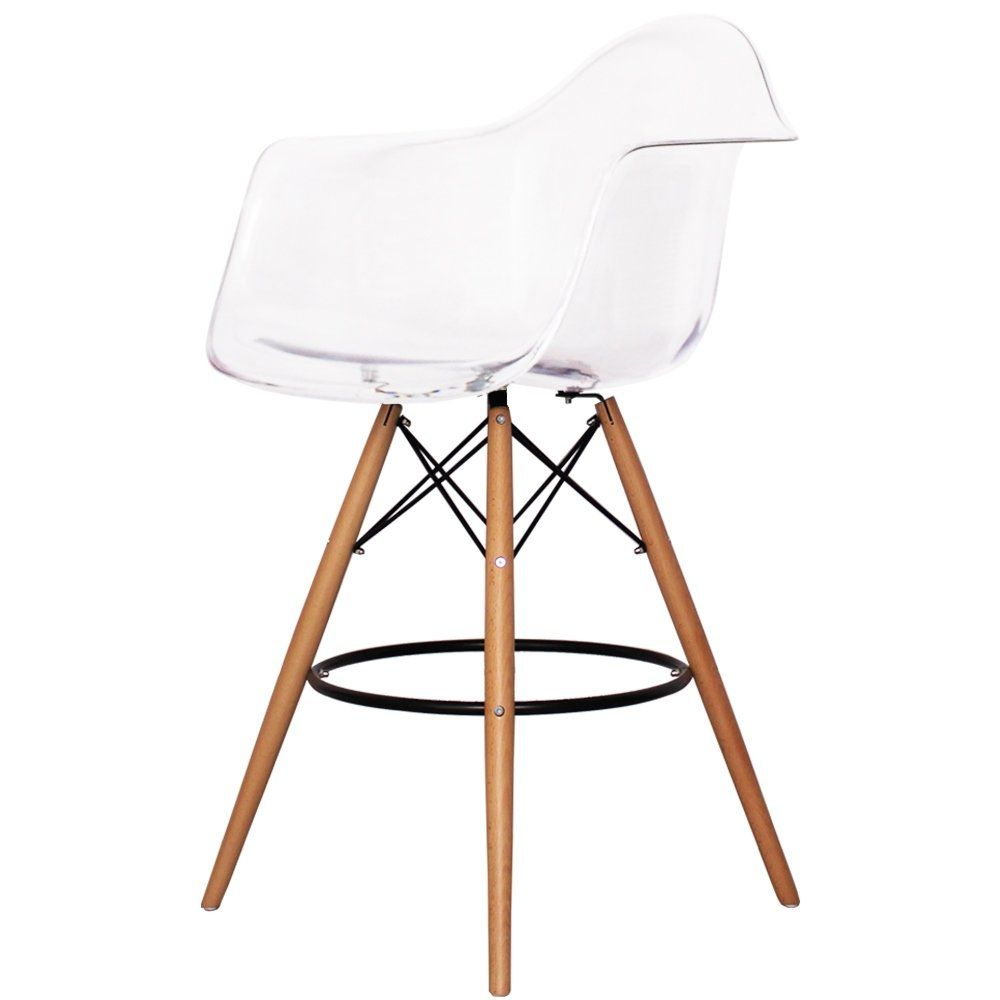Charles Eames Style Clear Plastic Bar Stool With Arms  sc 1 st  Pinterest & Charles Eames Style Clear Plastic Bar Stool With Arms | Kitchens ... islam-shia.org