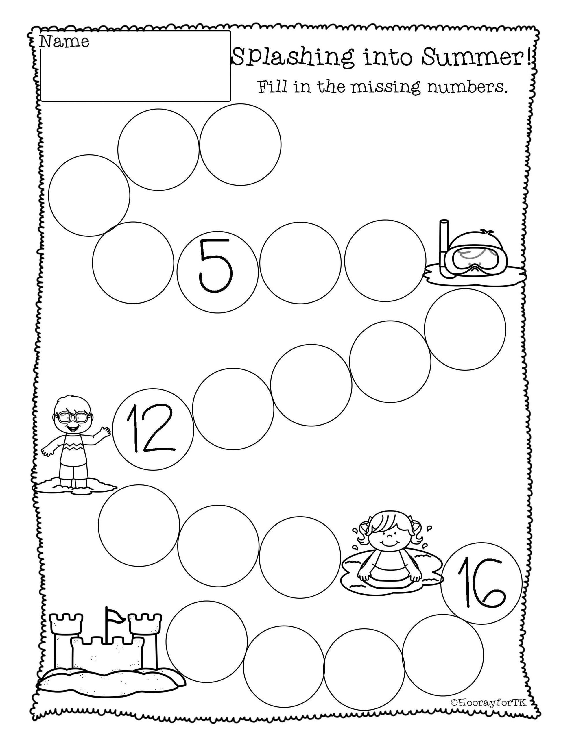 Kindergarten Ocean Worksheets Printable Ocean Math