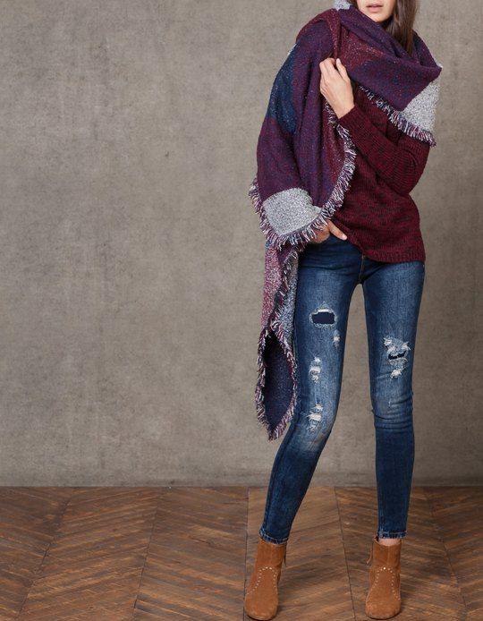outfits con bufanda de stradivarius   Chicisimo