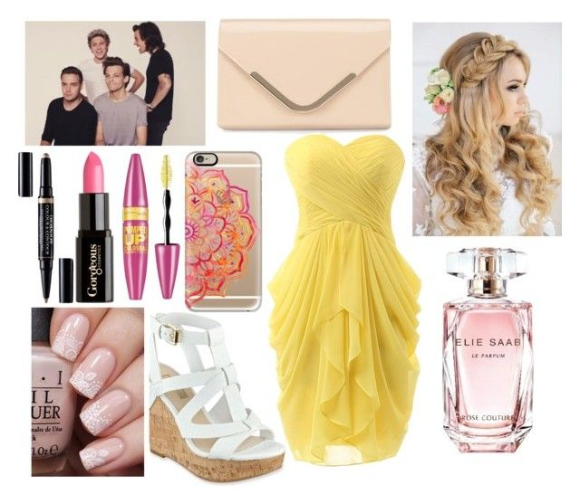 """""""Who's Laughing Now"""" by qwerty-16-polyvore ❤ liked on Polyvore featuring Retrò, GUESS, Elie Saab, Casetify, Maybelline, Gorgeous Cosmetics, Accessorize and Christian Dior"""