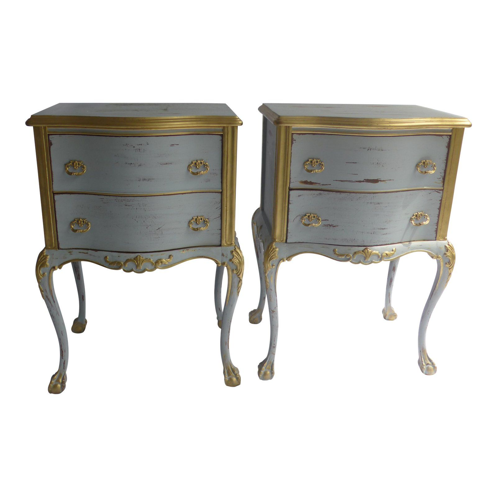 French Wooden Nightstands, 1960s A Pair Chairish