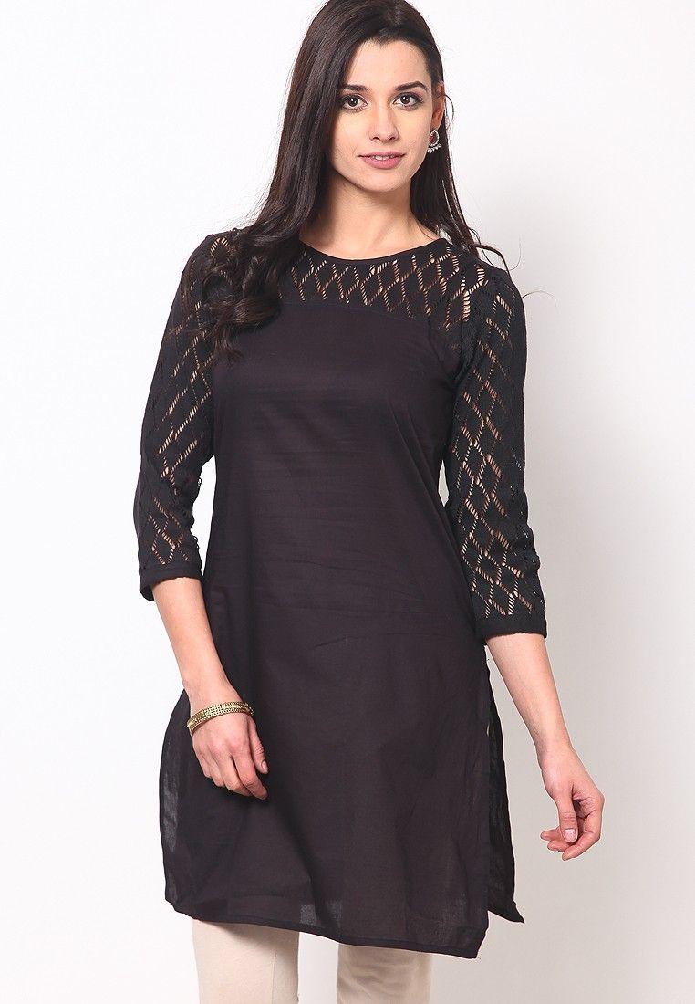 d5668614c87 Lovely Look Stylish  Designer Black Color  Kurti