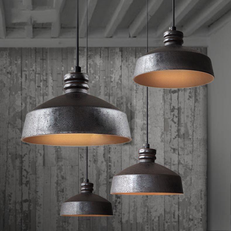 Ceramic Rustic Industrial Pendant Light Industrial Ceiling