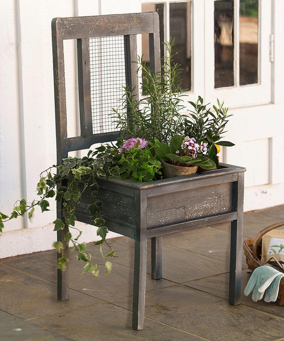 Love this Chair Planter by Plow & Hearth on #zulily! #zulilyfinds