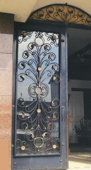 porte d\'entrée exterieur en fer forgé   Doors   Pinterest   Doors ...