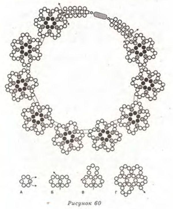 колье схемы ажурное бисероплетение