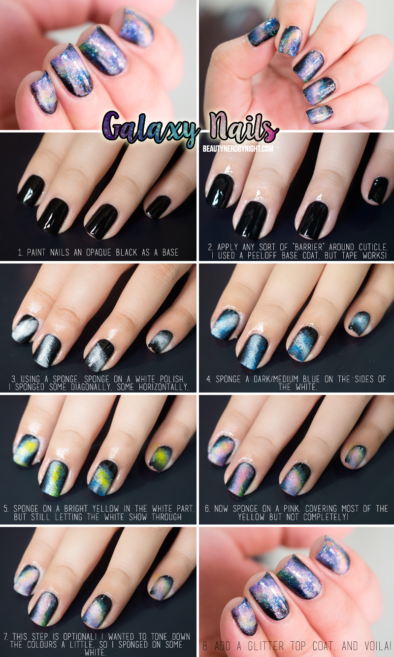 How To: Galaxy Nails | Galaxy nails, Galaxy nail and Galaxies