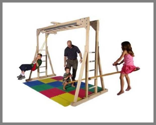 Inside Jungle Gym put bed over monkey bars don t do