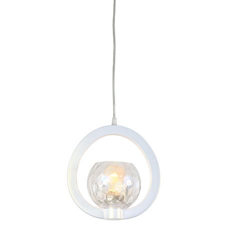 Varaluz covenant 1 light mini pendant in pearl 121m01pe