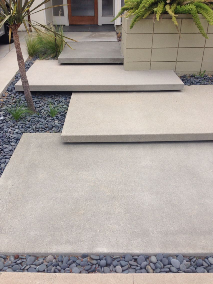 Best Floating Concrete Steps Exterior Stairs Concrete Steps 400 x 300