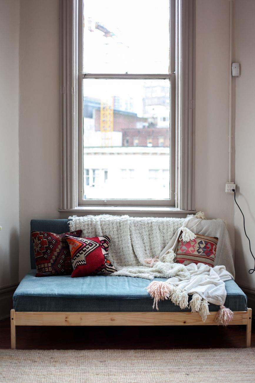 IKEA Hack: Turning a FJELLSE Bedframe into a Couch | Pinterest ...