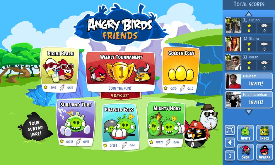 Angry Birds Game Interface Game interface, Game app