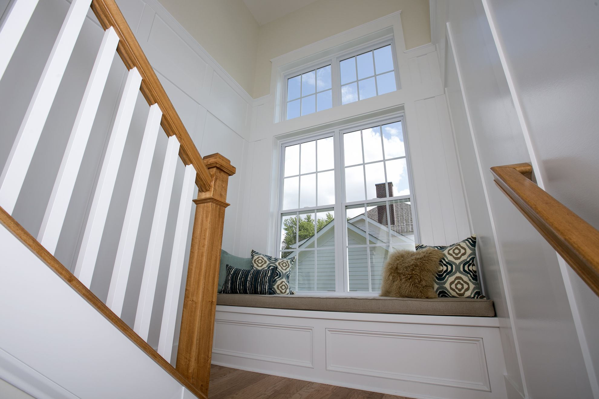 Window Seat In The Stairwell At Compass Homes Parade Home