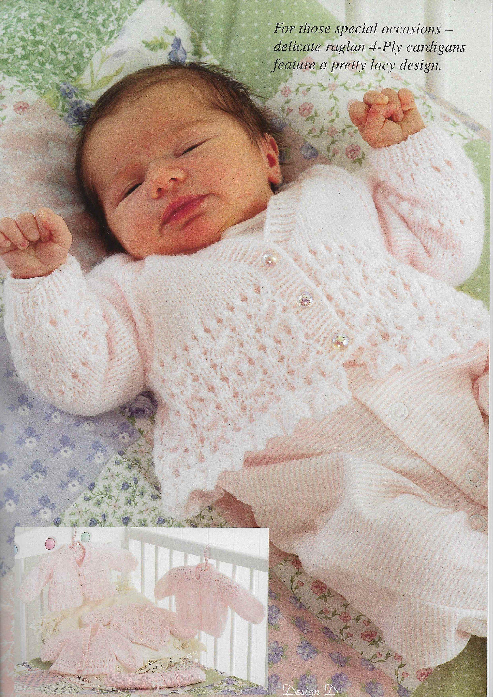 b6e779d6b Premature Baby Cardigan 4 PLY Knitting Pattern PDF Newborn Cardigan ...
