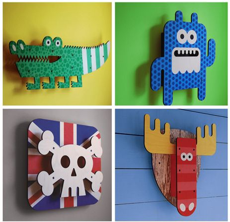 Arte 3D de Art Thingys para decorar paredes infantiles | Juegos ...