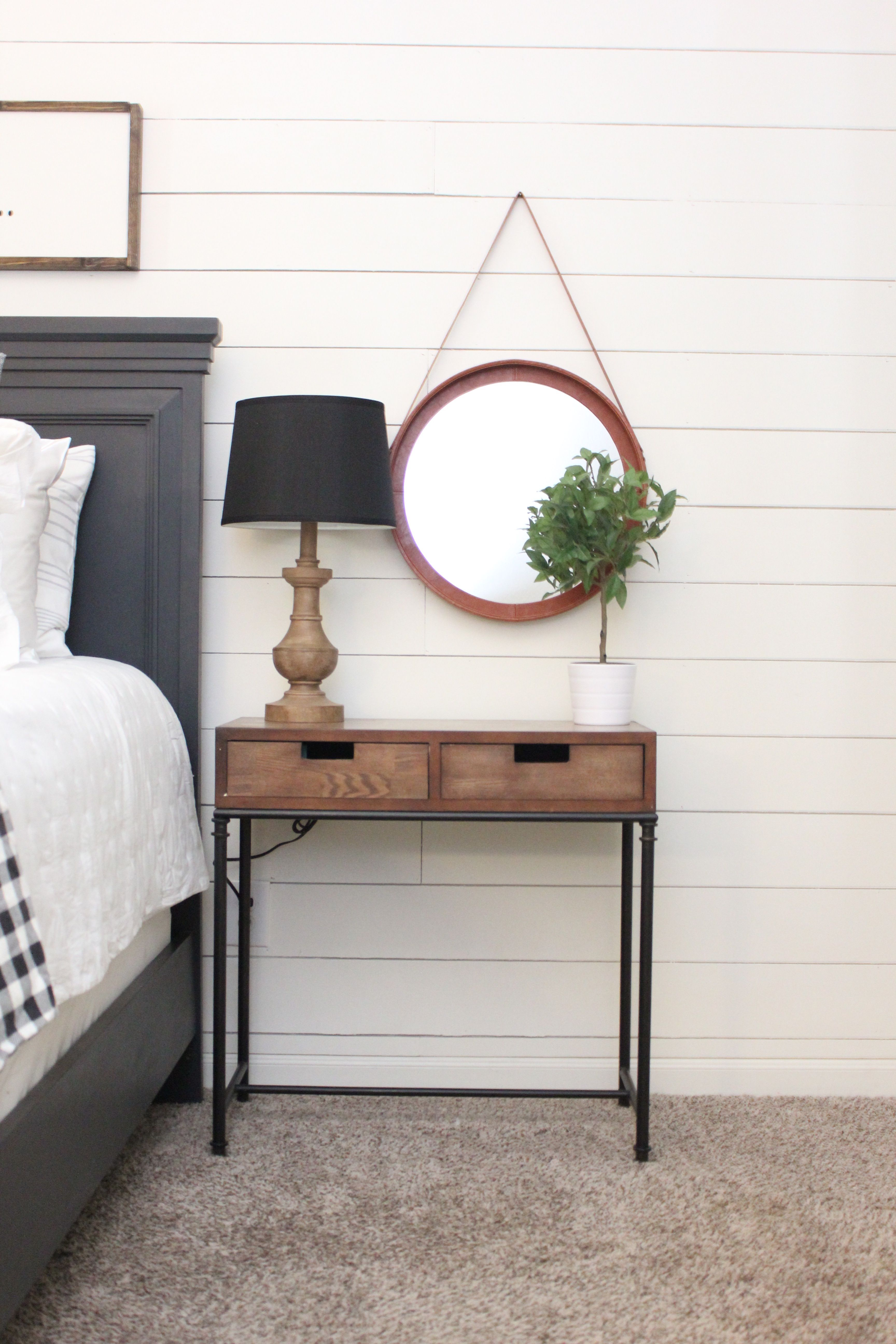 Decor Tip: a small mirror is a unique addition above any ... on Floor Mirrors Decorative Kirklands id=38605