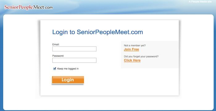 Seniorpeople com login