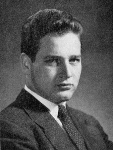Paul Newman's senior photograph from the 1949 Reveille, the student yearbook