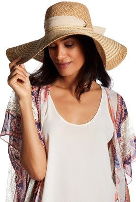 David & Young Scarf Tie Floppy Hat #hat #womens