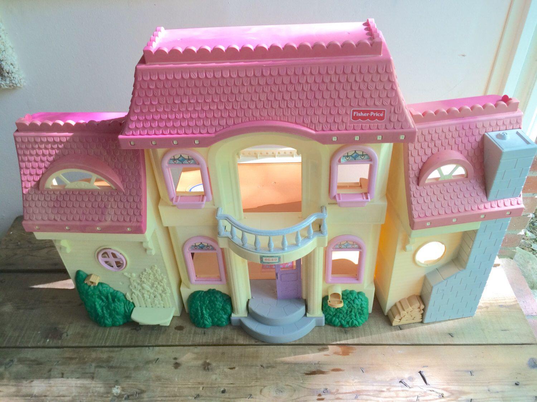 Vintage Fisher Price Dollhouse 4649 Loving Family Foldable Large