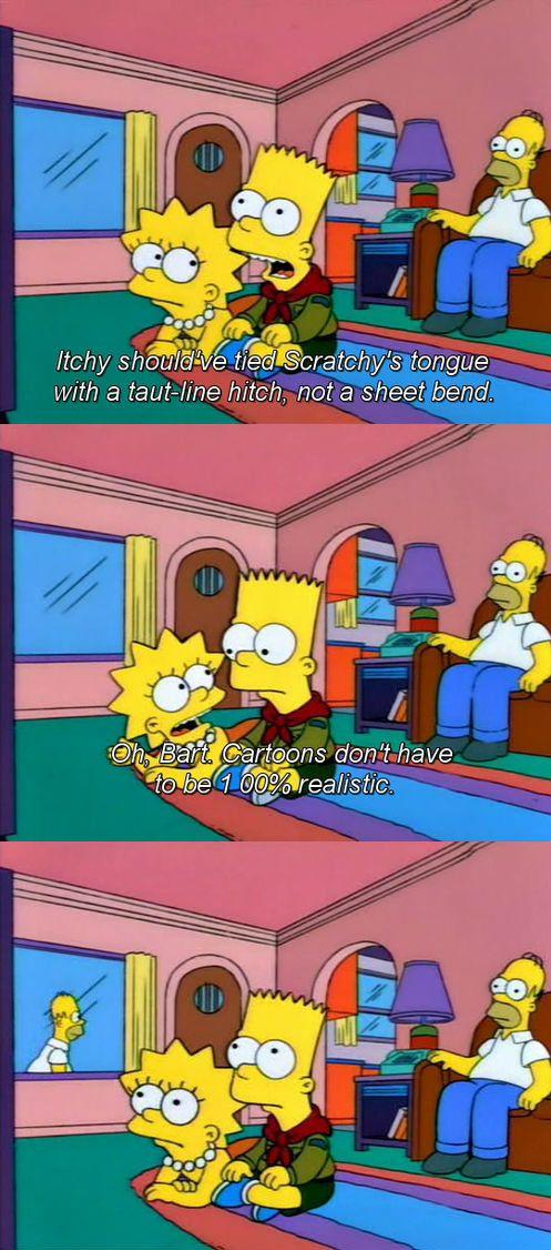 Cartoons. | Simpsons funny, Cartoon logic, The simpsons
