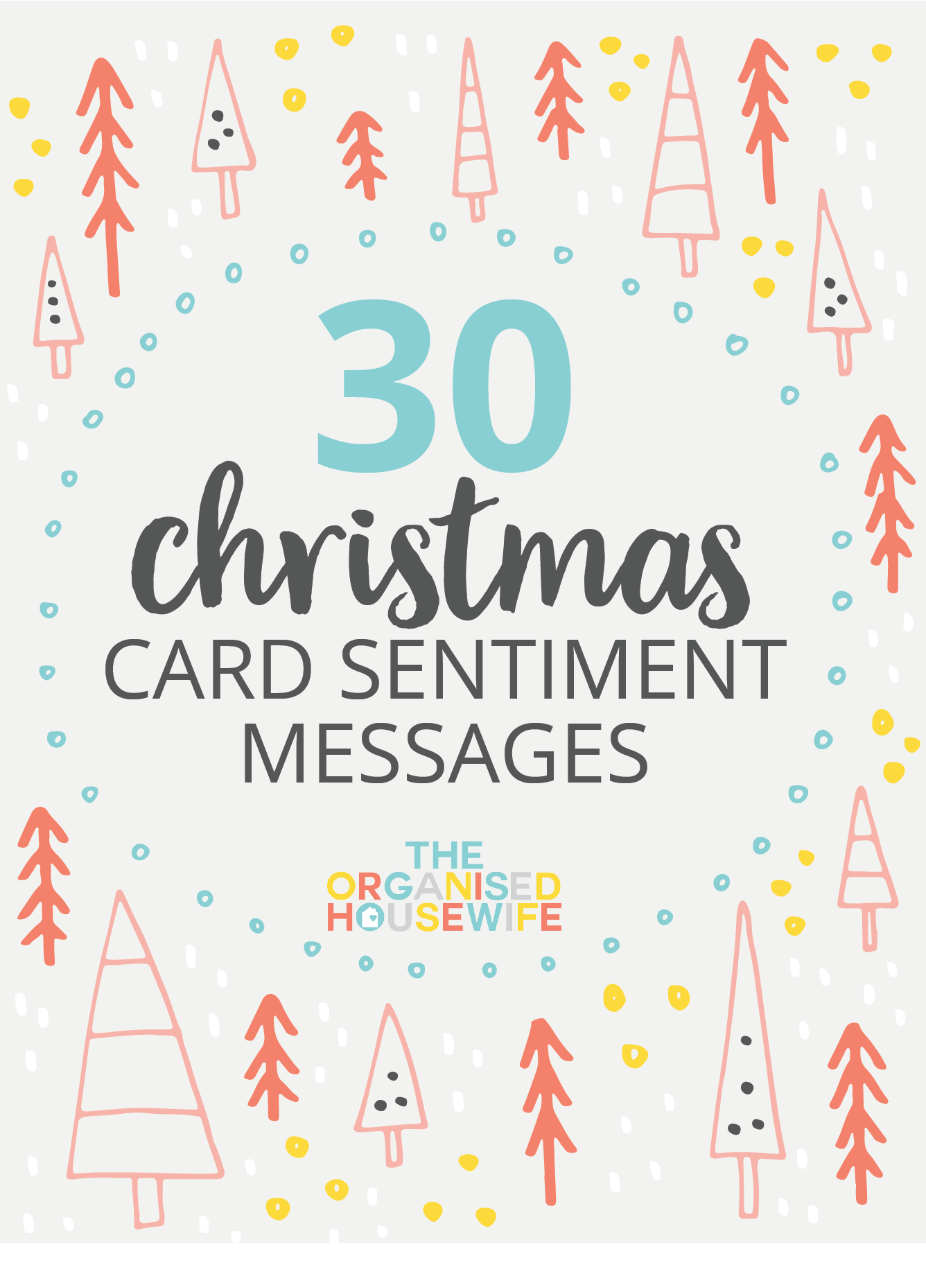 30 Christmas Card Sentiment Messages Card Sentiments Perfect