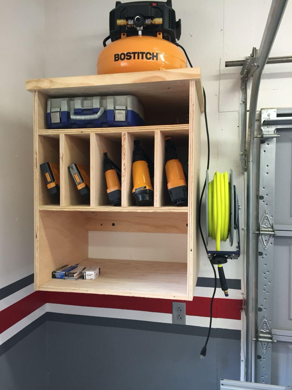 Air compressor cabinet | My Garage Workshop | Pinterest | Air ...