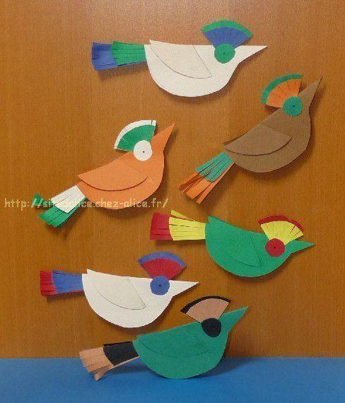 Oiseaux En Papier Cartonn Bricolages Acm Pinterest Oiseau En Papier Oiseaux Et Cr Ations