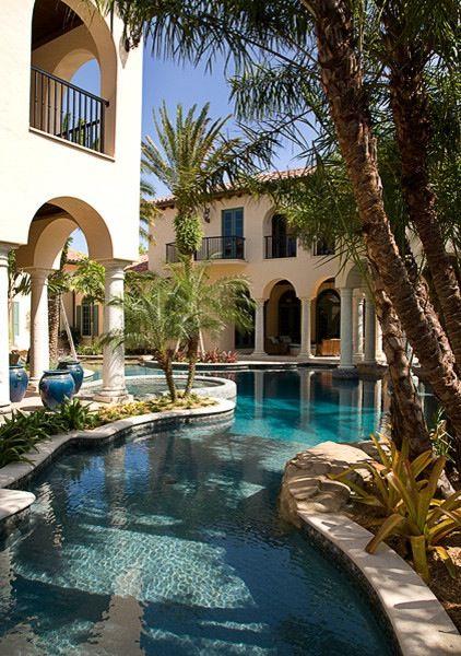 Beautiful Backyards Without Pools : Beautiful Backyards  Beautiful pool  Awesome View Custom Pools Miami