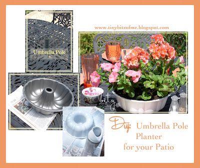 Diy Umbrella Pole Planter Outdoor Inspiration Planters Garden