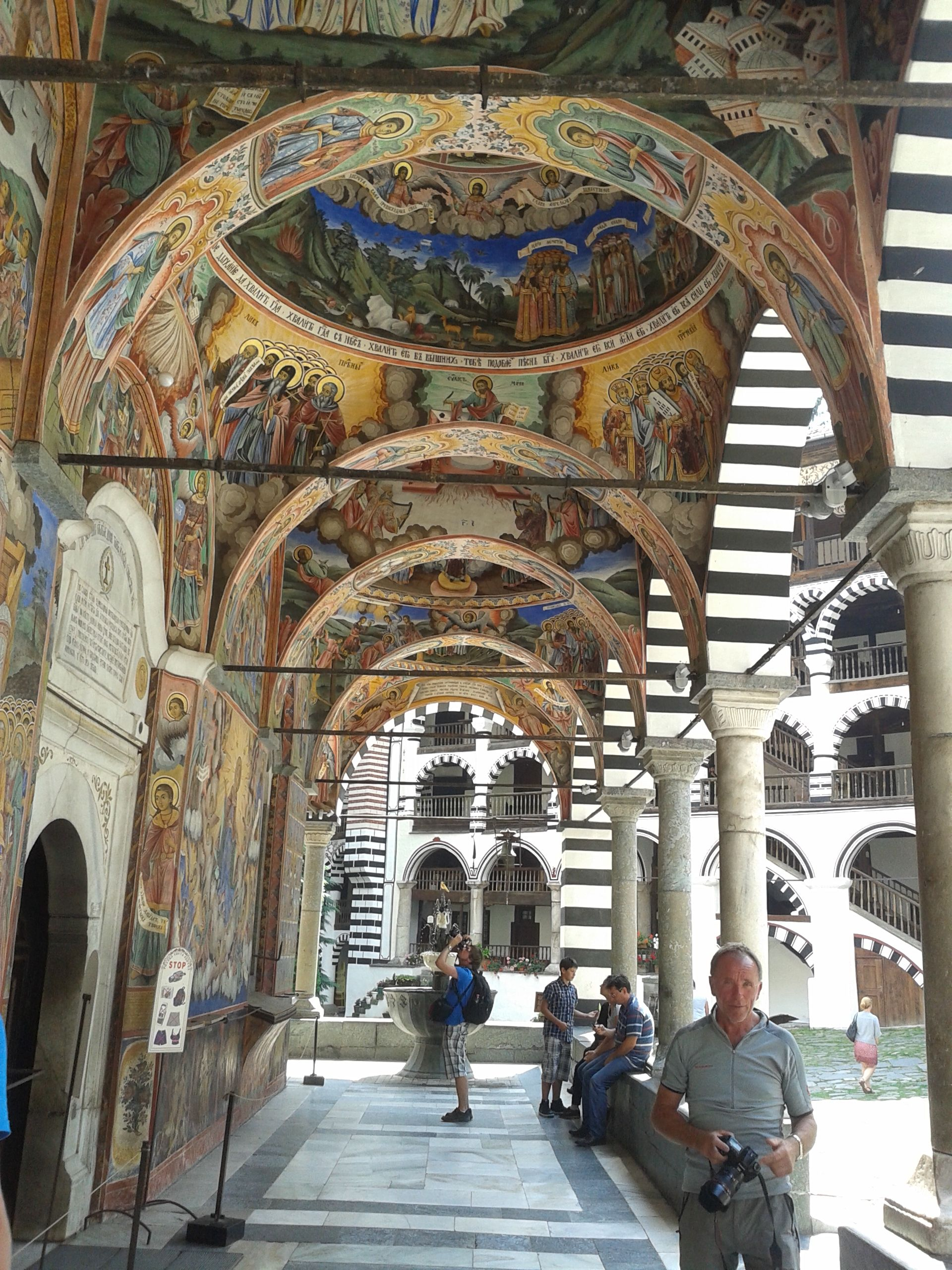 Rila Monastery... a 3 hour drive from the capital Sofia, the capital of Bulgaria, was the seat of Christianity in the Byzantine period