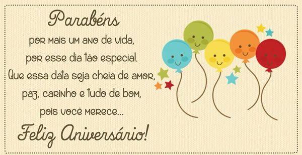 Parabéns Por Mais Um Ano De Vida Feliz Aniversário Aniversário