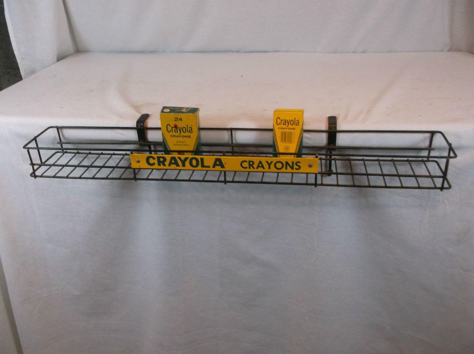 vintage crayola crayons store counter display sign original ebay